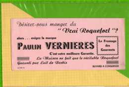 Buvard & Blotting Paper : Vrai Roquefort PAULIN VERNIERES  Le Fromage Des Gourmets - Produits Laitiers