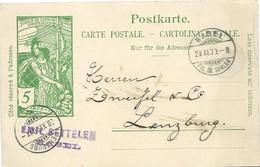 214 - 29 -  Entier Postal UPU Avec Cachets à Date Basel Et Lenzburg 1900 - Postwaardestukken