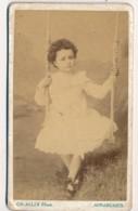 Photographie Ancienne CDV C.1890 Portrait D'une Jeune Fille Photographe ALLIX Avranches - Alte (vor 1900)
