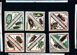 6481B) REPUBBLICA CENTRAFICANA- TASSE-SERIE COMPLETA - INSETTI- 12 VALORI-MNH** - Repubblica Centroafricana