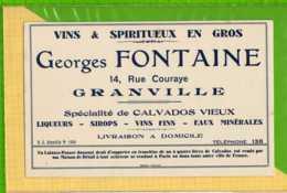 Buvard & Blotting Paper :Vins GEORGES FONTAINE GRANVILLE - Liqueur & Bière