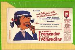 Buvard & Blotting Paper :Farine FROMENDOR Pates FROMENDINE  2eme COMMANDEMENT Fille - Food