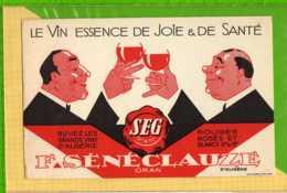 Buvard & Blotting Paper :Le Vin SENECLAUZE ORAN - Liqueur & Bière