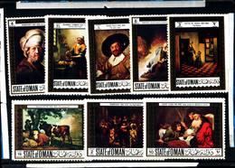 6482B) Oman 1969 Famous Paintings,QUADRI FAMOSI-SERIE COMPLETA-8 VALORI -MNH** - Künste