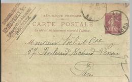 CARTE  POSTALE  ROUBAIX  1922 - Enteros Postales