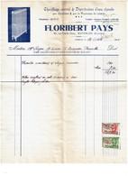 Facture 1945  FLORIBERT PAYS 60 Rue Emile Dury Waterloo - Chauffage Central - Eau Chaude -   - 2 Scans - Belgique