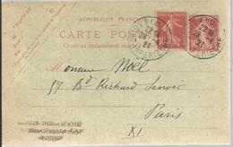 CARTE  POSTALE  ROUEN   1921 - Enteros Postales