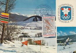 Carte  Maximum  1er  Jour    FRANCE    Jeux  Olympiques  D' Hiver   GRENOBLE   1968 - Winter 1968: Grenoble