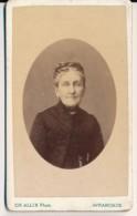 Photographie Ancienne XIXe CDV Portrait D'une Femme Photographe ALLIX Avranches - Alte (vor 1900)