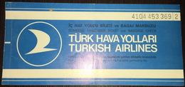 Turkish Airlines Ticket Ankara Istanbul 1974 - Billetes De Transporte