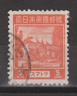 Nederlands Indie Dutch Indies Japanse Bezetting Sumatra 6 Used ; Netherlands Indies Japanese Occupation JS6 - Indonesië