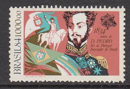 1984 Brazil Brasil King Don Pedro Portugal Horse Complete Set Of 1  MNH - Brasile