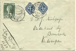1923 Brief Van 's Gravenhage Naar Kampen Met 2x 4c - Lettres & Documents