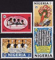 Nigeria 1971 Year Of Combating Racial Discrimination 4 Stamps - Nigeria (1961-...)