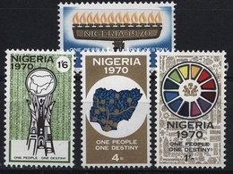 Nigeria, 1970,Confederatioin Day, 4 Stamps - Nigeria (1961-...)