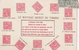 ***  Le Langage Des Timbres  TTB - Tarjetas De Fantasía