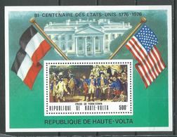 Haute-Volta Bloc-feuillet YT N°5AE Indépendance Des Etats-Unis La Prise De Yorktown Neuf/charnière * - Alto Volta (1958-1984)