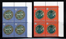 1981 Norvegia Norway EUROPA CEPT EUROPE 4 Serie Di 2v. In Quartina MNH** Bl.4 - 1981