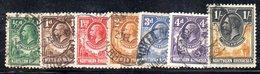 APR2100 - RHODESIA NORD NORTHERN 1925 , Sette Valori Usati   (2380A) - Rhodesia Del Nord (...-1963)