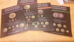 Lot: Philippe Saive Numismatique Catalogue De Vente à Prix Marqués 1 - 2 - 3 - 4 - Lots De Plusieurs Livres