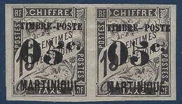 France Colonies Martinique N°20a 5 Penché Tenant à Normal TTB Signé Calves - Martinique (1886-1947)