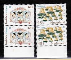 1981 Olanda Holland Nederland EUROPA CEPT EUROPE 2 Serie Di 2v. Coppia MNH** - 1981
