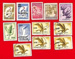 4261  --  TURQUIE  Service + Bienfaisance  --  Lot  De  Timbres - 1921-... République