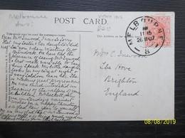Victoria: 1907 PPC To Englad (#WR2) - 1850-1912 Victoria