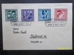 Osterreich: 1936 FDC To Stuttgart (#WR4) - 1918-1945 1st Republic