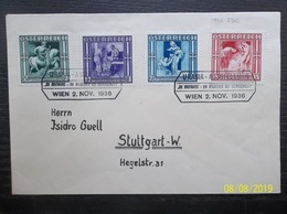 Osterreich: 1936 FDC To Stuttgart (#WR4) - 1918-1945 1a Repubblica