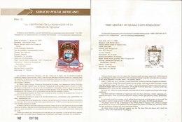 V) 1989 MEXICO, FIRST CENTURY OF TIJUANA'S CITY FUNDATION, FDB - Mexico