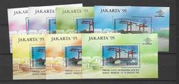 1995 MNH Indonesia Michel Block 101a-g, Postfris** - Indonesia
