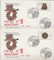 Germany Set On 4 FDCs From 1987 - Art