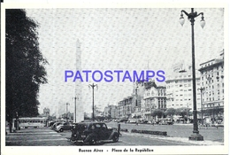 117371 ARGENTINA BUENOS AIRES PLAZA DE LA REPUBLICA & TRANVIA TRAMWAY POSTAL POSTCARD - Argentine