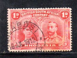 APR2110 - RHODESIA Company 1910,  Yvert N. 22 Usato  (2380A) - Grande-Bretagne (ex-colonies & Protectorats)