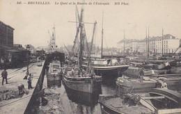 CPA Bruxelles - Le Quai Et Le Bassin De L'Entrepôt  (42908) - Navigazione