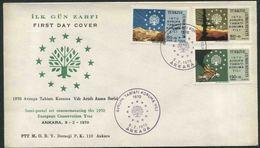1970 Turchia, Anno Europeo Conservazione Natura , F.D.C. Non Viaggiata - 1921-... República