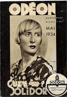 ODEON   MAI 1934 .( Format 17,7 X 11, 5 ) - Musique