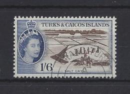 TURKS AND CAICOS Is...QUEEN ELIZABETH II.(1952-NOW)...1/6......SG247......(CAT £19..)..CDS....VFU.. - Turks E Caicos