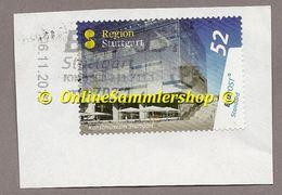 BRD - Privatpost - BWPost - Marke: Kunstmuseum Stuttgart -  Auf Briefausschnitt - BRD