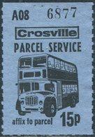 UK GB Crosville Parcel Service 15 P. Stamp Double-decker BUS Autobus Colis Paketmarke - Bussen