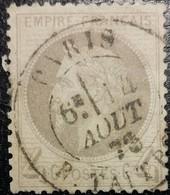 FRANCE Y&T N°27Ab Napoléon 4c Gris-lilas. Oblitéré CàD Paris - 1863-1870 Napoléon III Lauré
