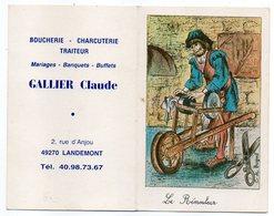 1987-LANDEMONT - 49 --Gallier Claude --Boucherie-Charcuterie --calendrier Pt Ft --Le Rémouleur (vieux Métiers) - Calendriers
