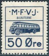 BUS Denmark 1954 MFVJ Mariager-Fårup-Viborg Jernbane Autobus Parcel Service Colis Paketmarke Eisenbahn Railway - Bussen