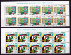 1981 Portogallo Portugal EUROPA CEPT EUROPE 10 Serie Di 2v. Blocco MNH** - 1981