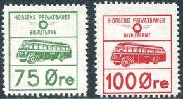 BUS Denmark 1958 Horsens Privatbaner Autobus Parcel Service WHITE PAPER Colis Paketmarke Eisenbahn Railway Chemin De Fer - Bussen