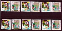 1981 Portogallo Portugal EUROPA CEPT EUROPE 6 Serie Di 2v. MNH** - 1981