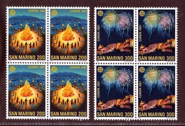 1981 San Marino Saint Marin EUROPA CEPT EUROPE 4 Serie Di 2v. Quartina MNH** Bl.4 - 1981