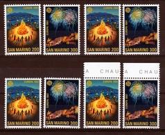 1981 San Marino Saint Marin EUROPA CEPT EUROPE 4 Serie Di 2 Valori MNH** - 1981