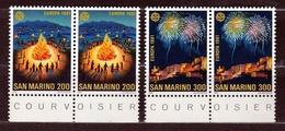 1981 San Marino Saint Marin EUROPA CEPT EUROPE 2 Serie Di 2 Valori Coppia MNH** - 1981